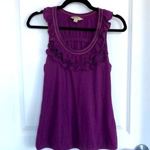 ANTHROPOLOGIE 💜 cute tank with ruffle detailing
